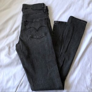 Levi's 721 High Rise Skinny Gray Jeans